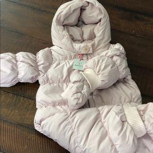 NWT Baby Gap girl's warmest down snowsuit 6-12